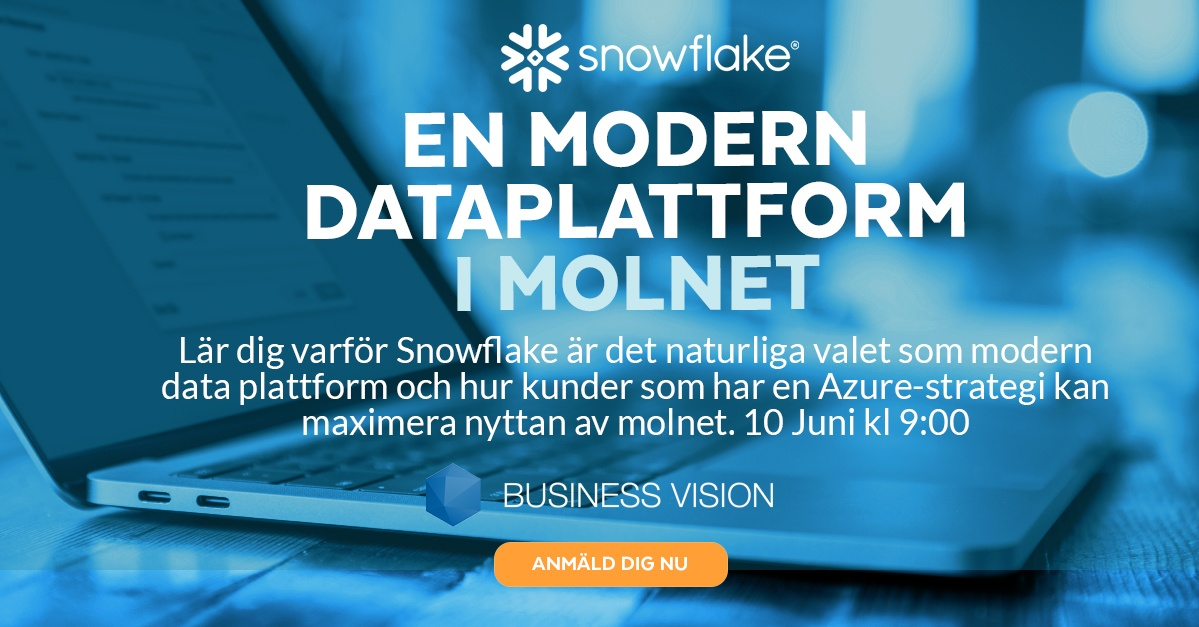 Snowflake - modern dataplattform -Sweden 2