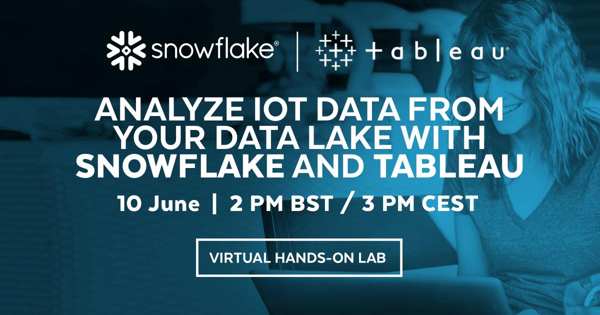 Digital workshop med Snowflake - insikter och översikt från IoT data som samlats i en DataLake 2