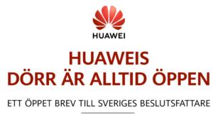 Huawei publicerar öppet brev till svenska beslutsfattare 3