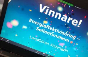 Digitaliserade fastigheter vinner energipris på Allmännyttans årliga konferens, Klimat- och Energikicken. 3
