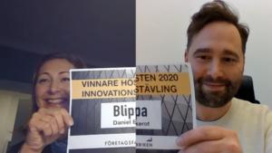 Blippa – med en ny lösning inom fintech – vinnare i Företagsfabrikens Innovationstävling med rekordstort intresse. 2