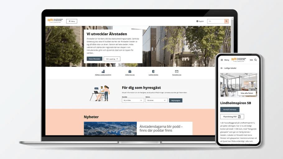 Älvstranden Utveckling lanserar ny webbplats