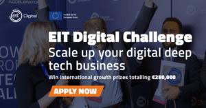 Möjlighet för startups med internationell potential att vara med i EIT Digital Challenge 2021