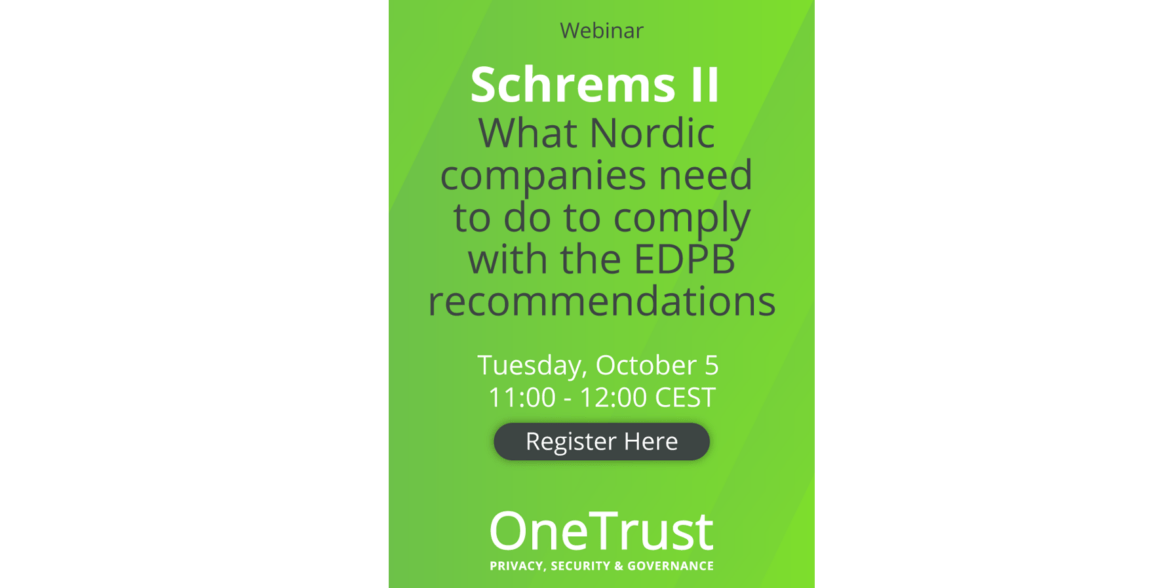 Schrems II: What Nordic Companies Need to do to Comply with the EDPB Recommendations