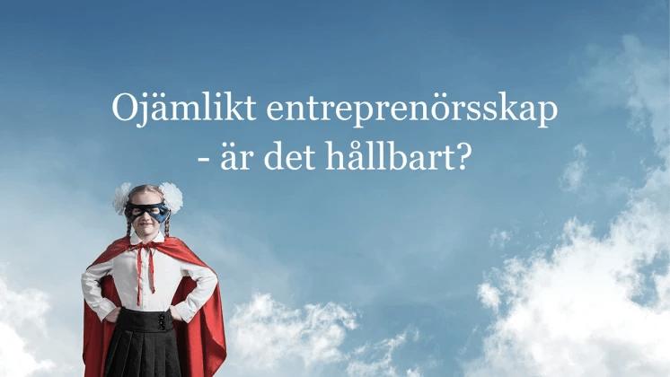 Livesändning på jämlik finansiering av entreprenörskap