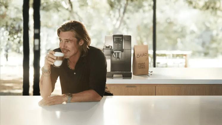 Brad Pitt frontar De'Longhi internationellt i kampanjen Perfetto